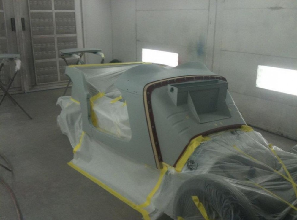 A clean and neat refinishing preparation area allows for a professional job to be done at Tanner's Paint & Body - Springfield, Springfield, MO, 65802.