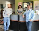 Right to left: Eric Dash, President/Owner, Jill Howard, Office Manager/VP, Don Moore, Estimator