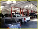 Professional vehicle lifting equipment at Frank's Automotive & Collision Center, located at New Braunfels, TX, 78130, allows our damage estimators a clear view of all collision related damages.