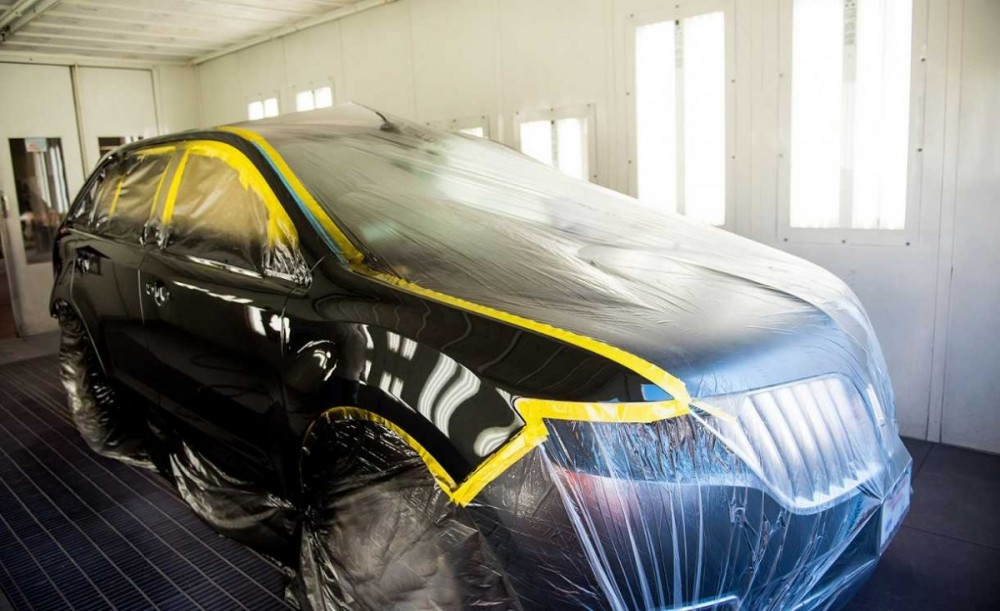 A professional refinished collision repair requires a professional spray booth like what we have here at Jessup Auto Plaza Collision Center in Cathedral City, CA, 92234.