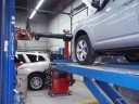 Professional vehicle lifting equipment at Olender's Body Shop, Inc., located at Vernon Rockville, CT, 06066, allows our damage estimators a clear view of all collision related damages.
