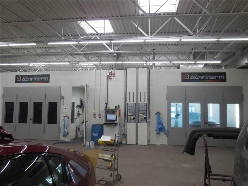 A professional refinished collision repair requires a professional spray booth like what we have here at Olender's Body Shop, Inc. in Vernon Rockville, CT, 06066.