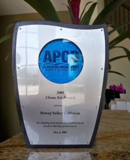 At Poway Valley Collision, in Poway, CA, we proudly post our earned certificates and awards.