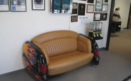 The waiting area at our body shop, located at Camarillo, CA, 93012 is a comfortable and inviting place for our guests.