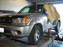 Professional vehicle lifting equipment at Fix Auto Santa Maria, Santa Maria CA  93454, it allows our damage estimators to get a clear view of all your collision related damages.