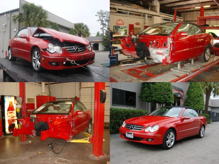 U.S. Auto Connection - Professional vehicle lifting equipment located at Houston, TX, 77008, allows our damage estimators a clear view of all collision related damages.