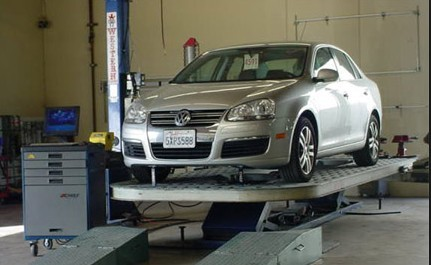 John Collision Center has professional vehicle lifting equipment , located at Santee, CA, 92071, allows our damage estimators a clear view of all collision related damages.