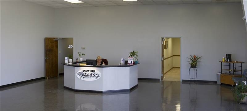 Our body shop's business office located at Snow Hill, MD, 21863 is staffed with friendly and experienced personnel.