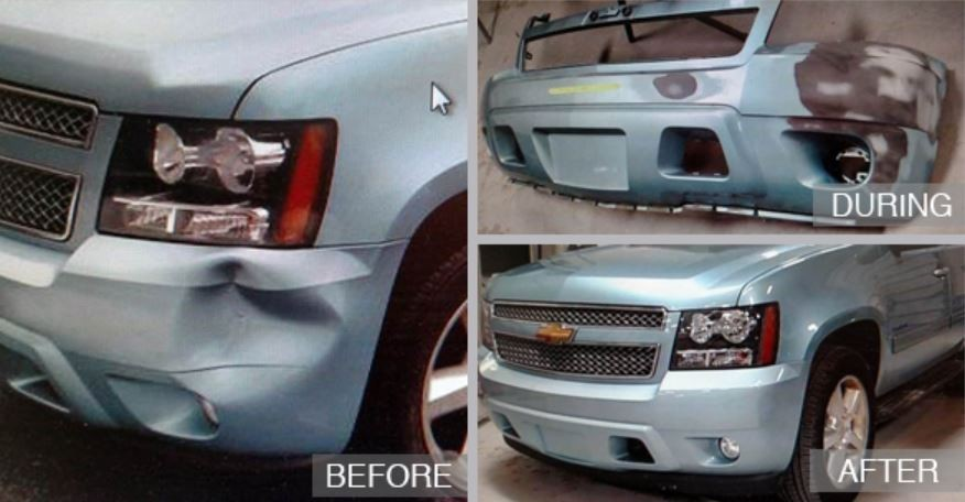 Our shop at Cambridge Auto Body, we have photos for our customers to see our before and after repair to enjoy.