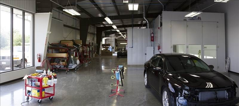 A neat and clean and professional refinishing department is located at Snow Hill Auto Body, Snow Hill, MD, 21863