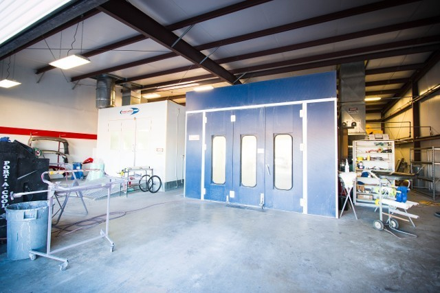 A professional refinished collision repair requires a professional spray booth like what we have here at Teresa's Ridgecrest Auto Body in Ridgecrest, CA, 93555.