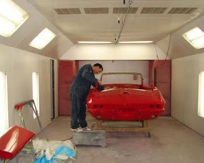 A professional refinished collision repair requires a professional spray booth like what we have here at The Body Works Of Va Inc in Leesburg, VA, 20175.