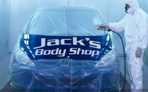A clean and neat refinishing preparation area allows for a professional job to be done at Jack's Body Shop, The Dalles, OR, 97058.