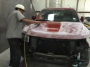 The color sand and buffing process is like putting the icing on a cake.  It just makes it better. These technicians are like jewelry polishers, they are an artist to their trade.  This process gives the vehicle's finish a mirror like feel and look.  At George's Paint & Body, LLC, Bryan, TX, 77803, we have the best in our industry.