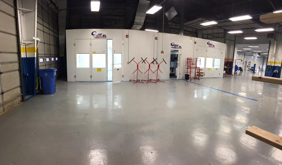 A professional refinished collision repair requires a professional spray booth like what we have here at Moppert Auto Collision Of Swedesboro in Swedesboro, NJ, 08085.