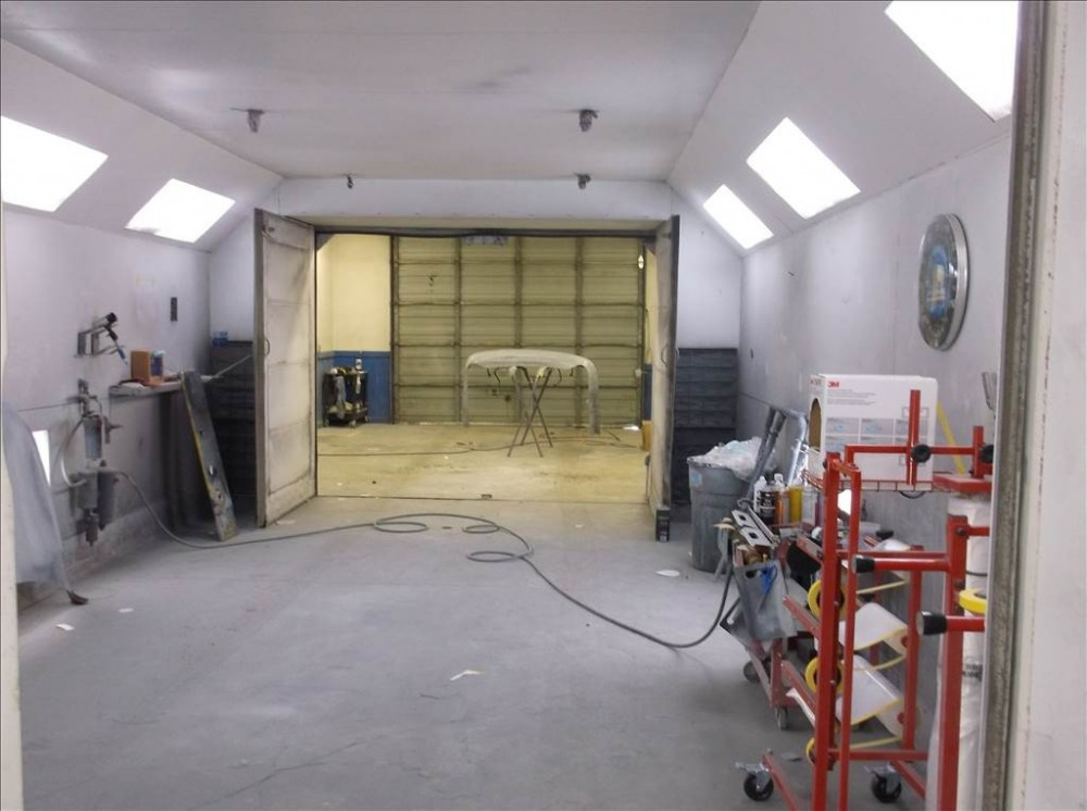 A neat and clean and professional refinishing department is located at Doherty Ford Collision Repair Center, Forest Grove, OR, 97116
