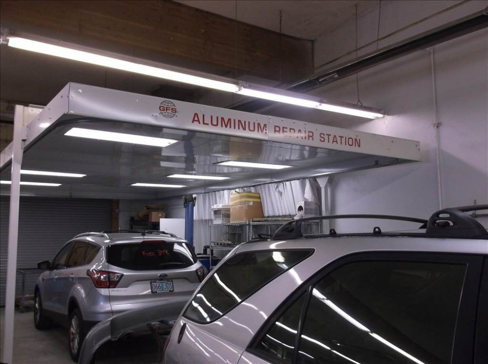 At Doherty Ford Collision Repair Center, in Forest Grove, OR, 97116, we are equipped with a certified aluminum welding area.
