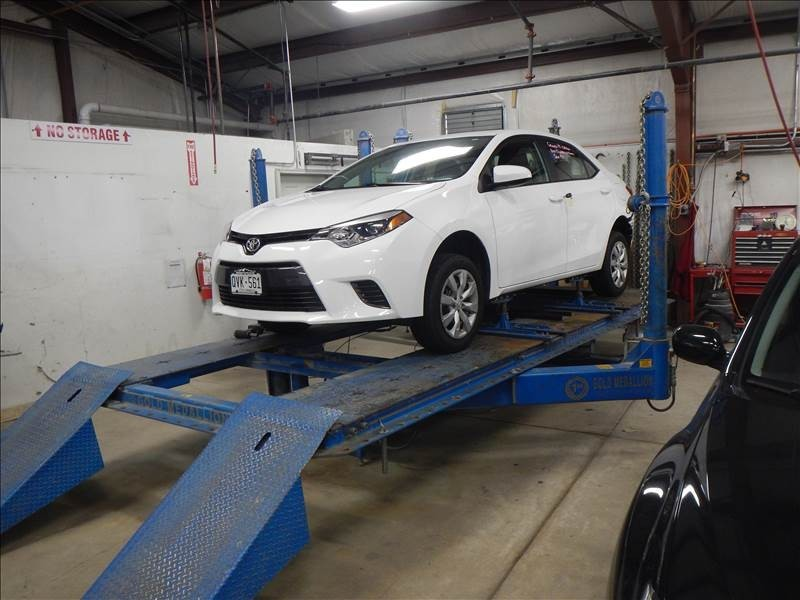 Professional vehicle lifting equipment at Northglenn Auto Body, located at Denver, CO, 80234, allows our damage estimators a clear view of all collision related damages.