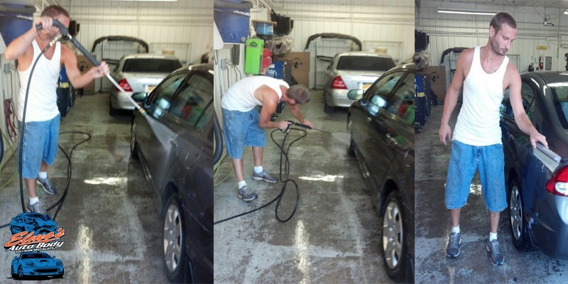 Every repaired vehicle gets a wash and a collision related detail.  At Elmo's Body Shop Inc., giving our guest back a clean vehicle is an absolute.