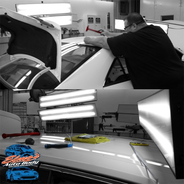 At Elmo's Body Shop Inc., we deal with repairs ranging from collision damage to dent repair. We get them corrected, and have cars looking like new when they leave our shop!