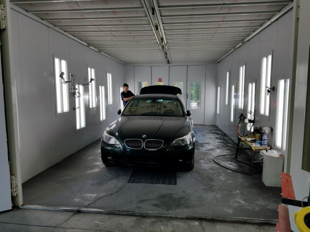 One of our Paint Booths at our body shop, located at Chapel Hill, North Carolina, 27517 is a comfortable and inviting place for our guests.
