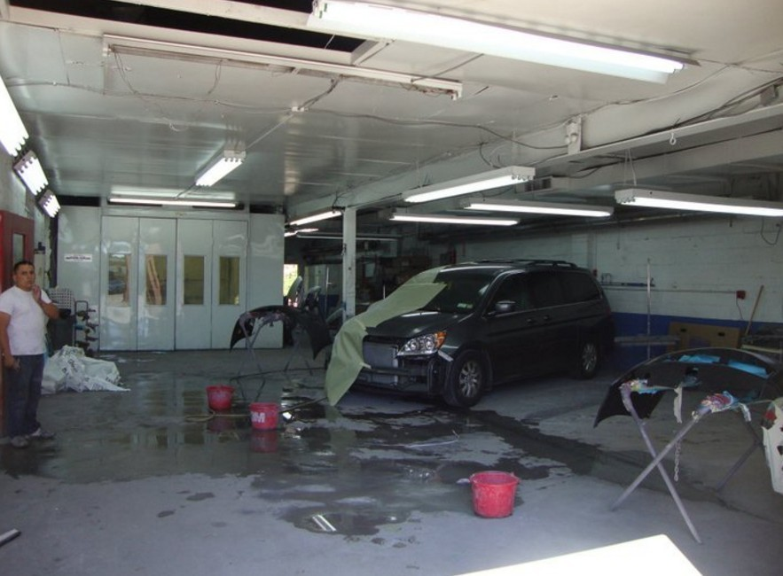 A neat and clean and professional refinishing department is located at Sands Point Auto Body Ltd, Port Washington, NY, 11050