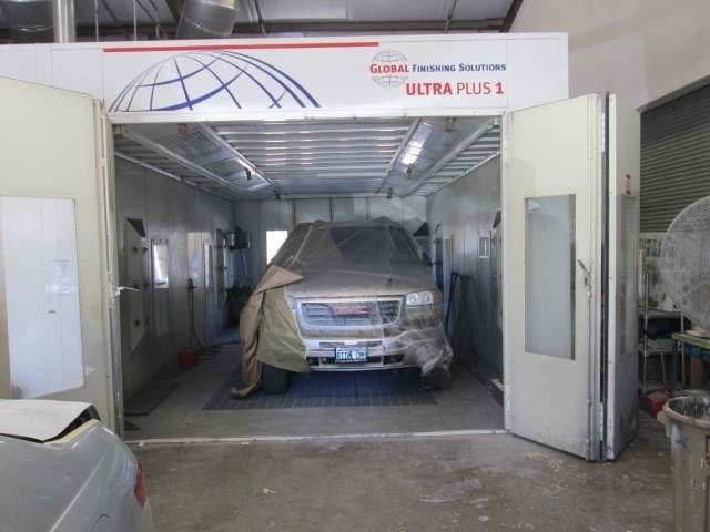 A neat and clean and professional refinishing department is located at Hughes Auto Body, Santa Barbara, CA, 93111