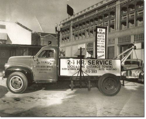 Eckles Auto Body 11630 Whittier Blvd. Whittier, CA 90601    SATISFIED CUSTOMERS CONTINUALLY SINCE 1936,  THAT IS 78 YEARS OF SUCCESS ........