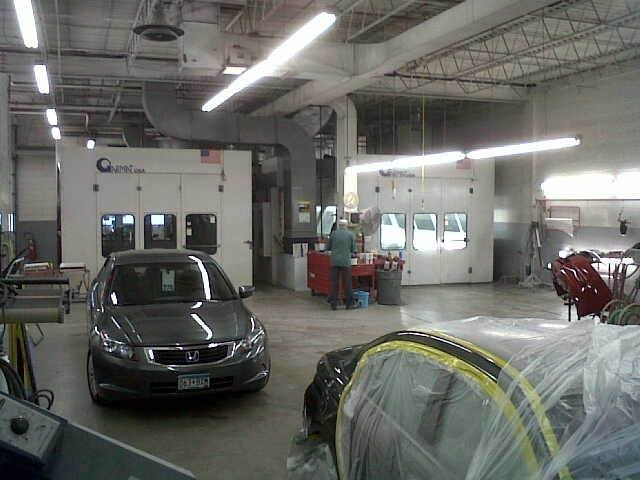 A professional refinished collision repair requires a professional spray booth like what we have here at Buerkle Body Shop in Saint Paul, MN, 55110.