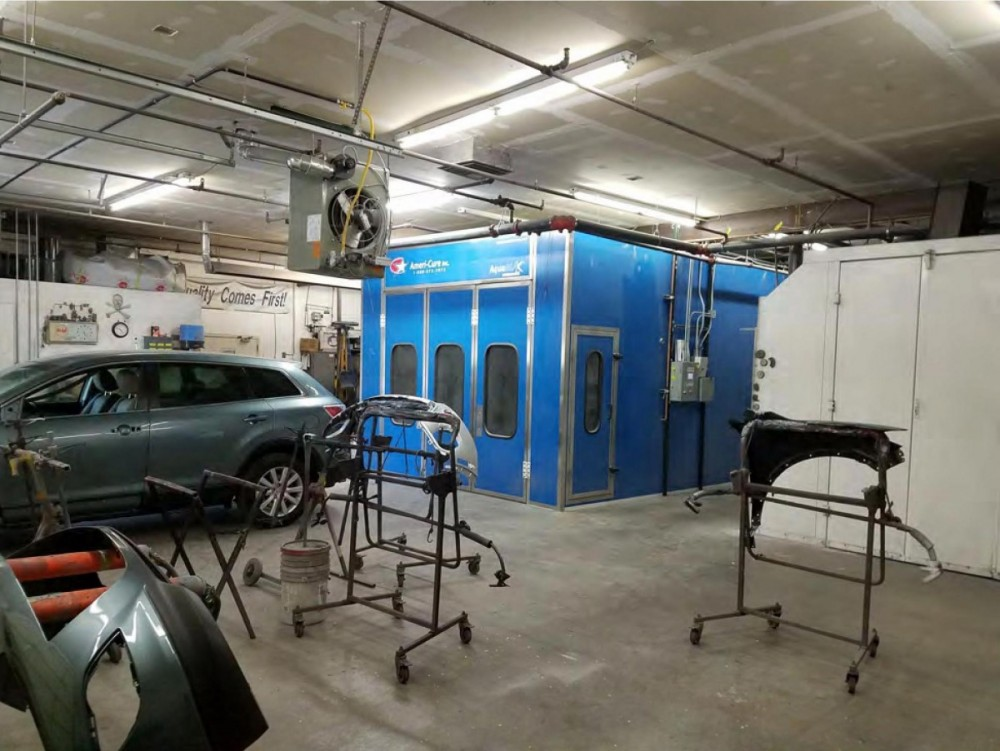 A professional refinished collision repair requires a professional spray booth like what we have here at Danlar Group in Albuquerque, NM, 87102.