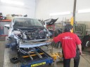 Accurate alignments are the conclusion to a safe and high quality repair done at Dads Auto Body & Paint Inc., Aiea, HI, 96701