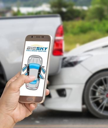 The EZ Estimate Tool helps you capture all the info we need to assess your vehicle's damage, right from your smart phone. Find it at bigskycol.com.""