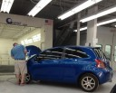 A professional refinished collision repair requires a professional spray booth like what we have here at Vision Collision in Tempe, AZ, 85281.