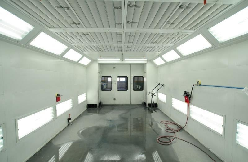 A professional refinished collision repair requires a professional spray booth like what we have here at D&V Autobody in Sterling, VA, [postalcode
